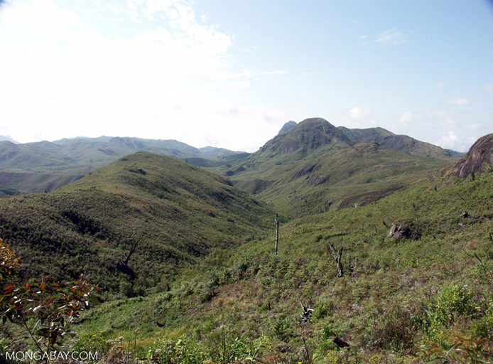 Tavy deforestation; bare hillsides (Ifasina / Antoetra)