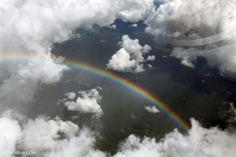Rainbow over the Amazon. All photos by Rhett Butler.