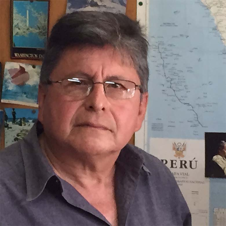 "Professor Carlos Llerena: ""We have a lot of laws in Peru, but many of them are not enforced."" Photo credit: Bill Hinchberger"