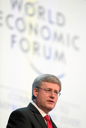 Stephen Harper, Prime Minister of Canada, speaks at the 2012 annual meeting of the World Economic Forum. Photo credit: World Economic Forum / Monika Flueckiger.