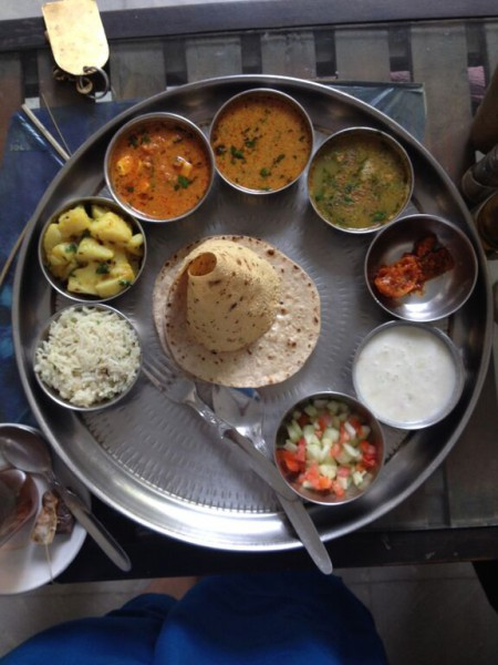 Palm oil was likely used to make this thali. Photo by Sarah Hucal.