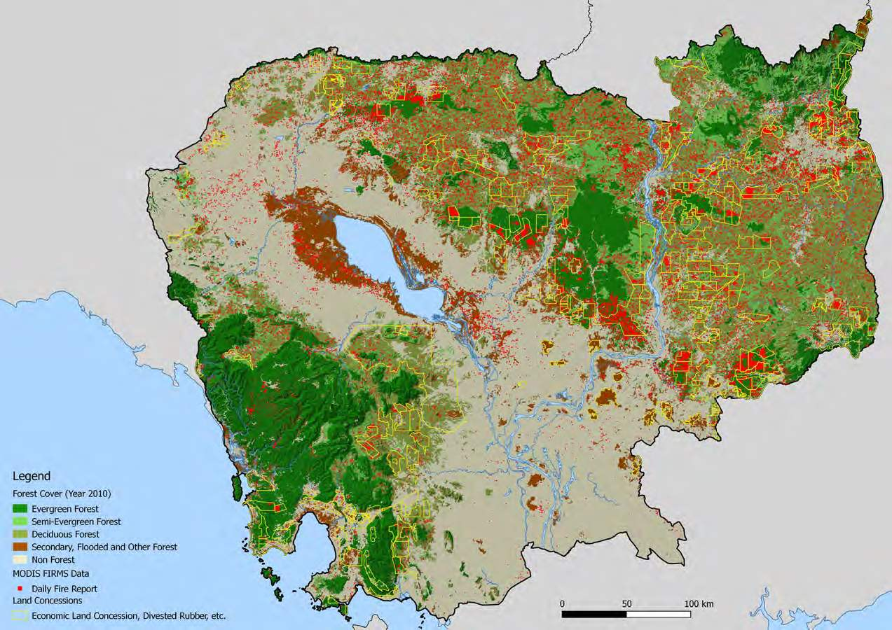 Us Forest Cover Map Industrial Concessions Causing Massive Deforestation In Cambodia
