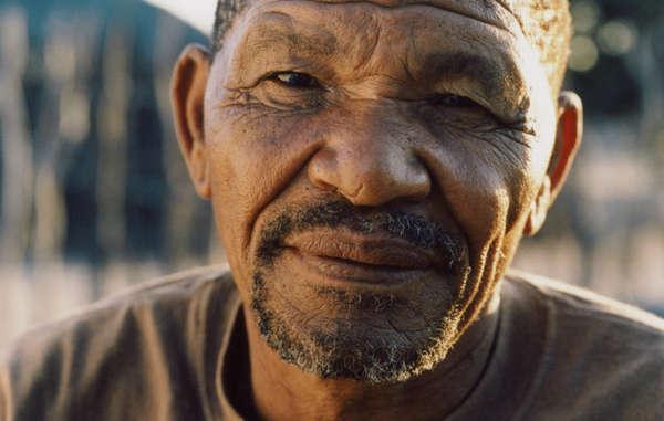 San activist Roy Sesana, circa 2005. Photo credit: Lottie Davies/Survival International.