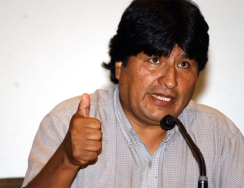 "Bolivian President Evo Morales. Photo credit: ""Morales 20060113 01"". Licensed under CC BY 3.0 br via Wikimedia Commons."