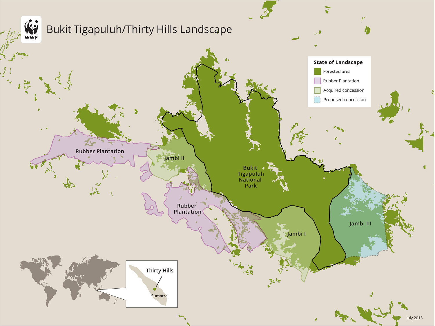 WWF map showing the new ecosystem restoration concession