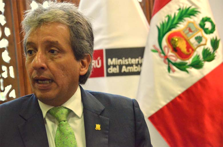 Manuel Pulgar-Vidal, minister of the environment for Peru. Photo by Emilia Catanoso.