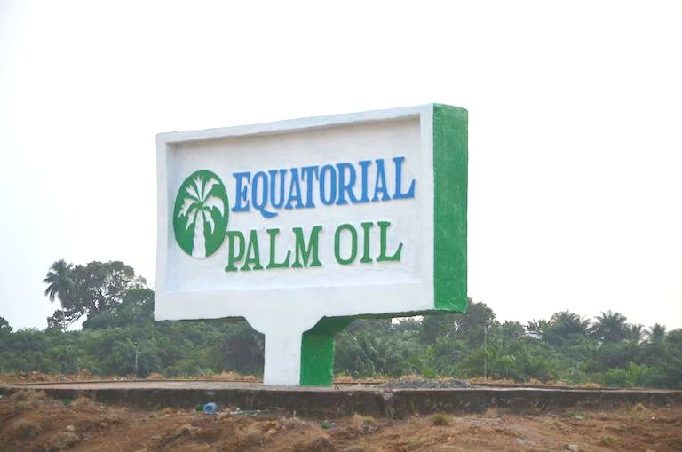 Equatorial Palm Oil, which is publicly-listed in the UK, has an office in Grand Bassa County, located in central Liberia, near its expansive palm oil concessions. The concessions last for 50 years. Photo by Sara Jerving.