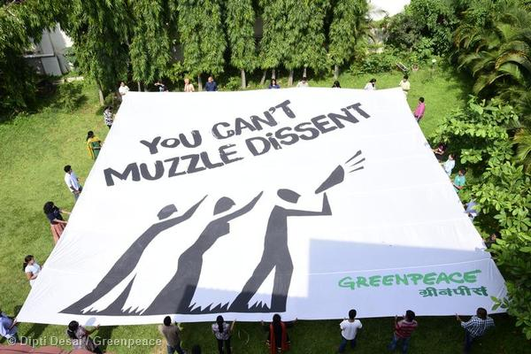 Greenpeace India has been facing a government clampdown since June 2014. Photo courtesy of Greenpeace