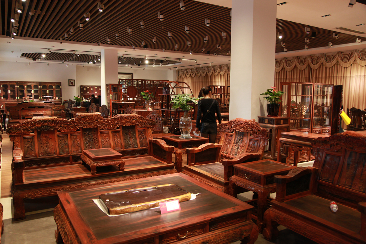 Luxury hongmu furniture on sale in China (c) Environmental Investigation Agency