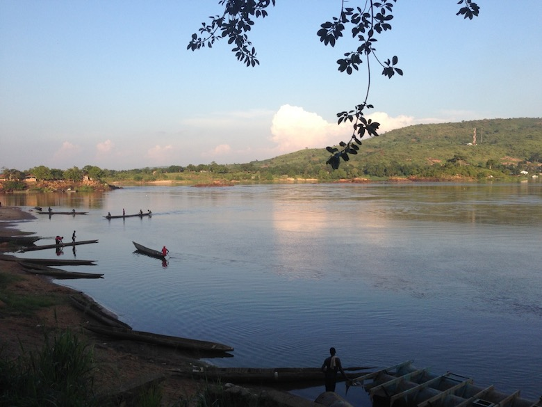 The Central African Republic still has standing primary rainforest and is home to some of the continent's highest densities of forest elephants and lowland gorillas. Photo of Oubangui River by John C. Cannon.