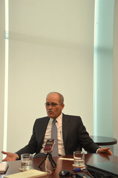 Roque Benavides, BuenaVentura CEO, in Lima. Photo by Emilia Catanoso