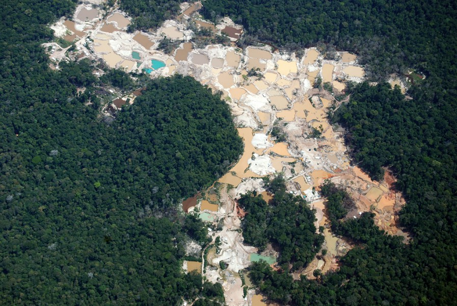 Gold mine in Suriname. Photo courtesy of the Amazon Conservation Team.