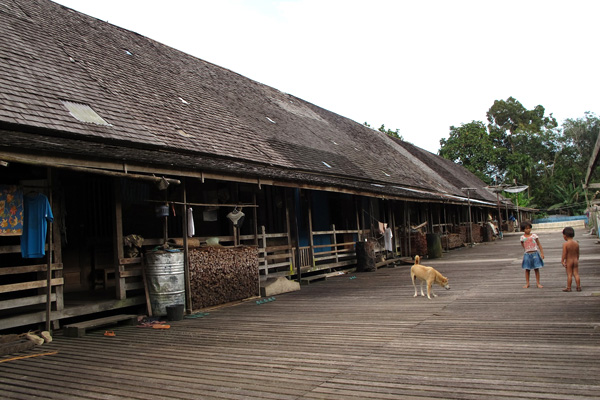 The village longhouse. Photo by Andi Fachrizal