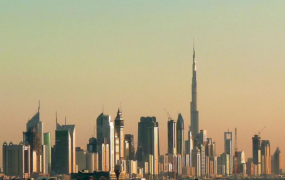 Places like Dubai could experience extreme heat waves by 2100. Photo by Jan Michael Pfeiffer from Wikimedia Commons.