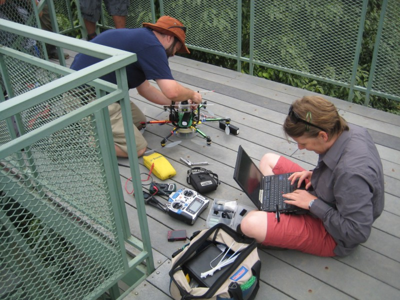 Collecting data from drones requires a lot of equipment. Image courtesy of Rakan Zahawi.