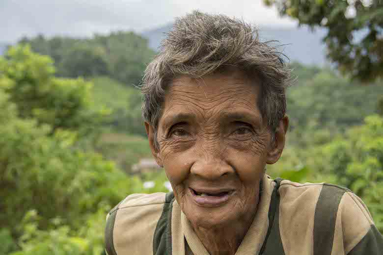 A tribal elder from the Tagbanua tribe in Quezon municipality, central Palawan. Photo by Rod Harbinson.