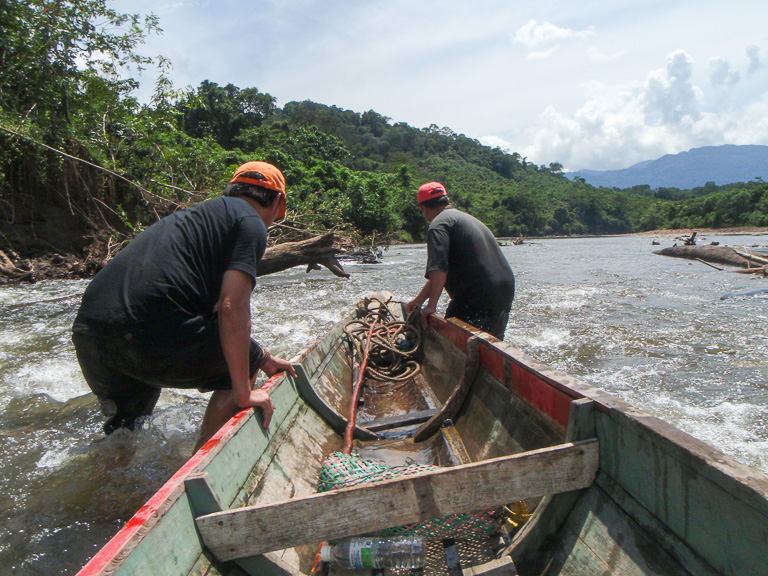 On the Baram River. Photo courtesy of Bruno Manser Fonds.