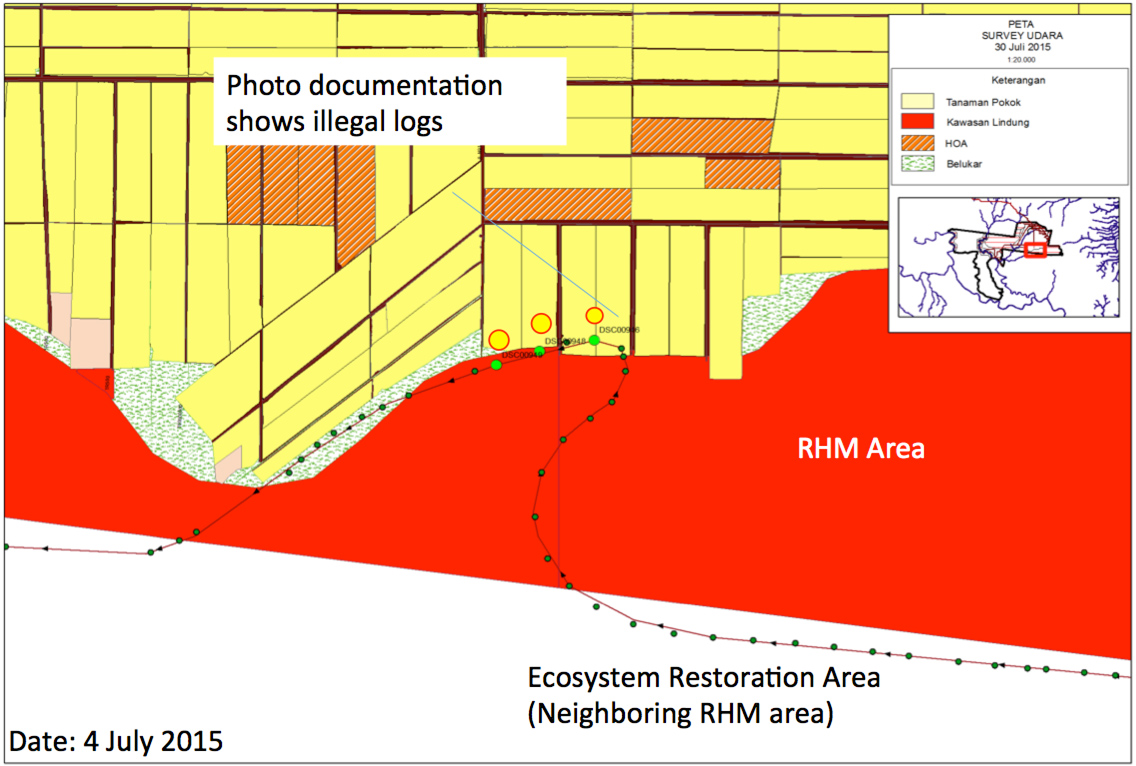 Plantation companies challenged by haze causing fires in indonesia rhm conservation area example verification by helicopter documents illegal logging in conservation areas ccuart Images
