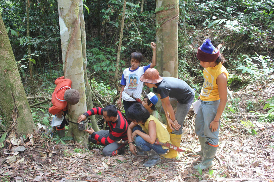 Camera traps provide the opportunity to collaborate with local communities on research. Photo by Brent Loken