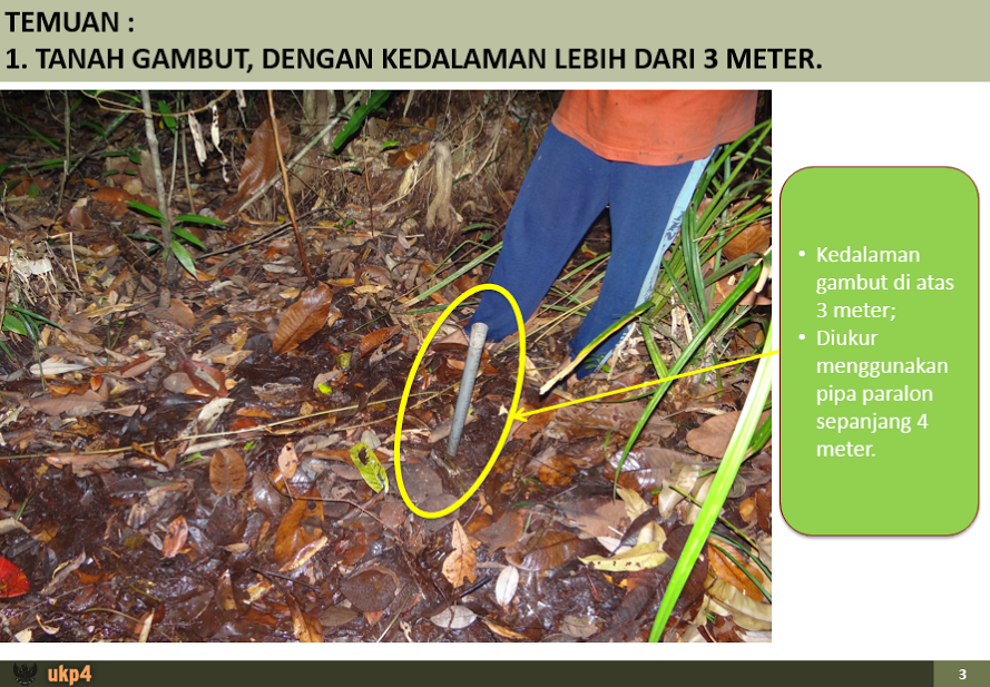 UKP4 survey in PEAK's concession - pipe in ground