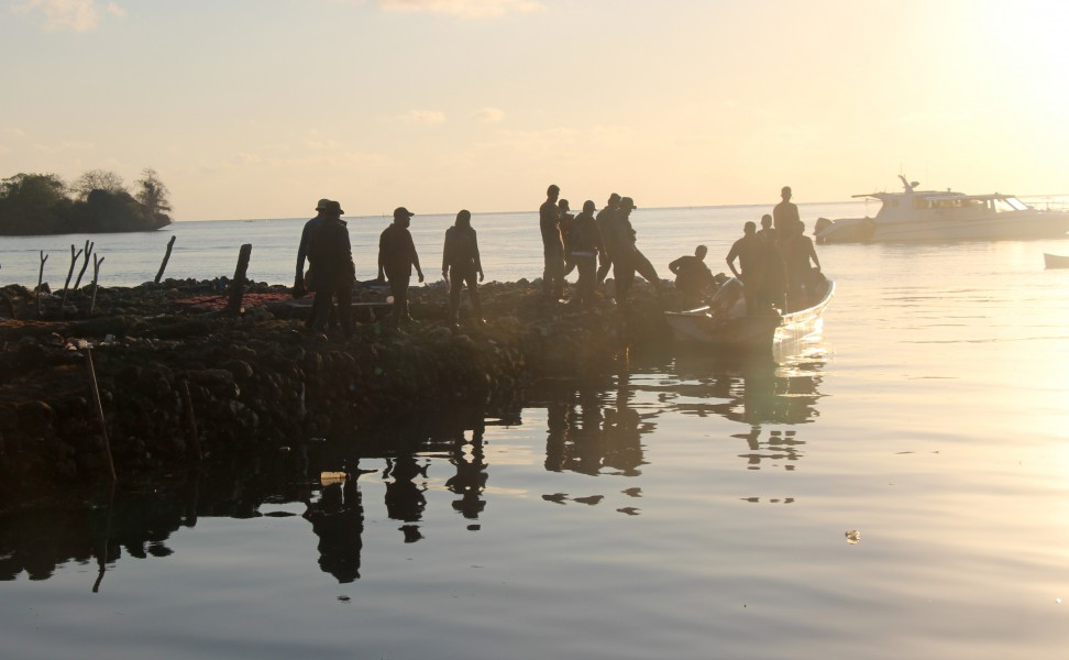 Kaye-Wakatobi-P3-3: Park guards head out for a day of patrolling in Wakatobi National Park. Photo by Melati Kaye