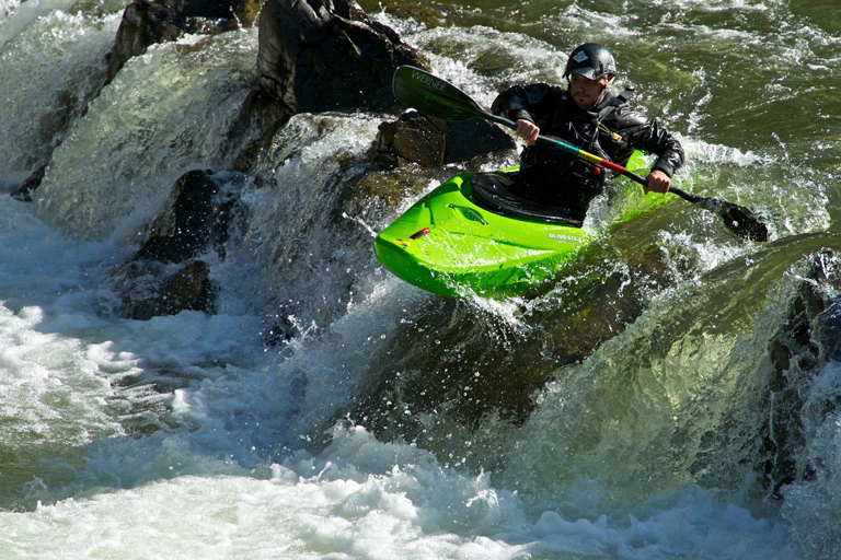 It would be easy to carry unwelcome plants and animals on the unwashed underbelly on this kayak. Photo courtesy of Chris Rhodes.