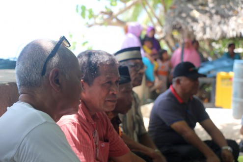 Hugua (in red), the regent of Wakatobi. Photo by Melati Kaye