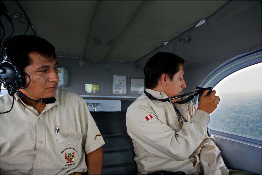SERNANP officials monitor Sierra del Divisor. Photo courtesy of CEDIA.