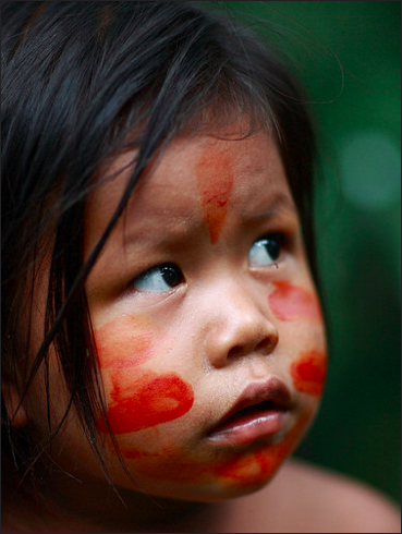 A child from the Matses indigenous community. The Matses people have supported creation of Sierra del Divisor National Park and are helping to develop its management plan. Photo courtesy of CEDIA.