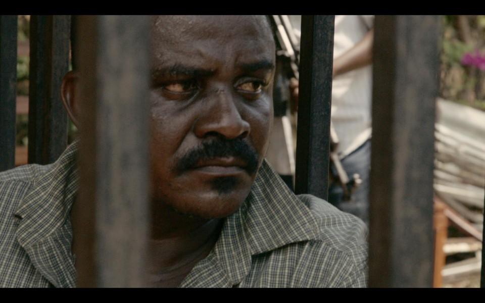 Shetani behind bars in Tanzania - Credit- Terra Mater Factual Studios