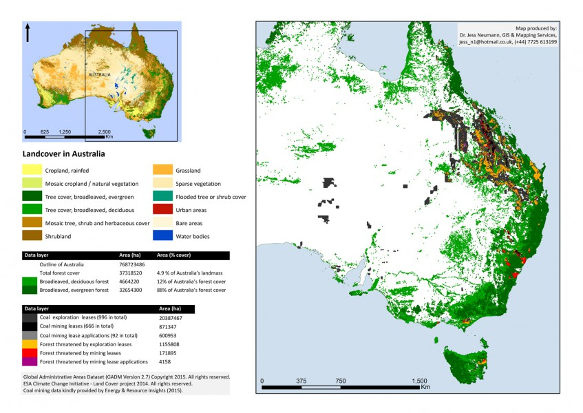 Australia coal mines and forest