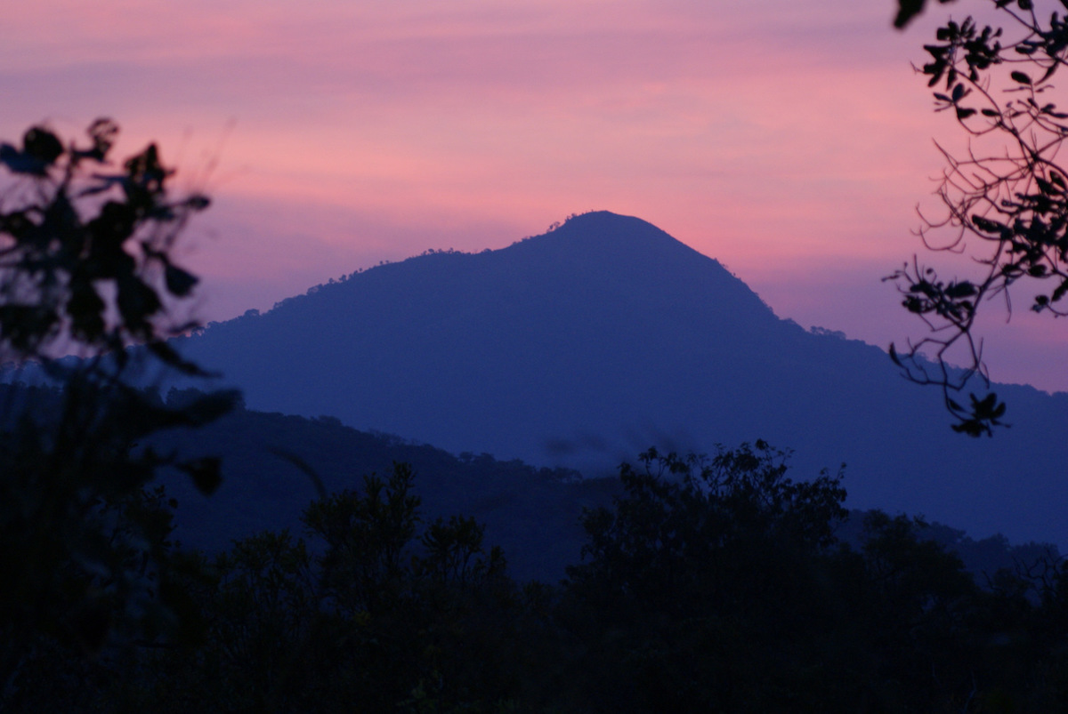 A mountain in silhouette inside Nigeria's Gashaka-Gumti National Park. Photo by Rosemary Lodge/Flickr.