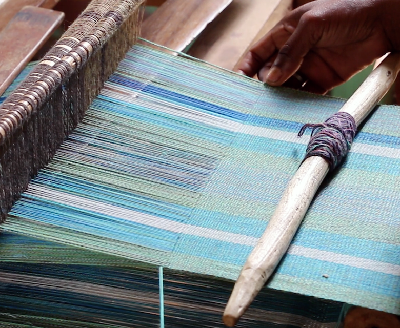 A loom from the Famiova Cooperative. Photo by Jan Gogarten.