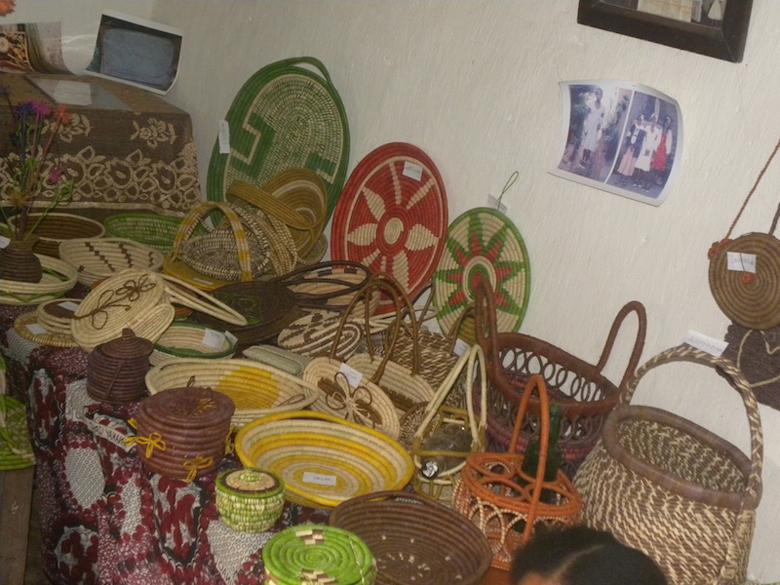 Baskets from the Maeva cooperative, Santatra Razanakolona. Photo courtesy of Centre ValBio.