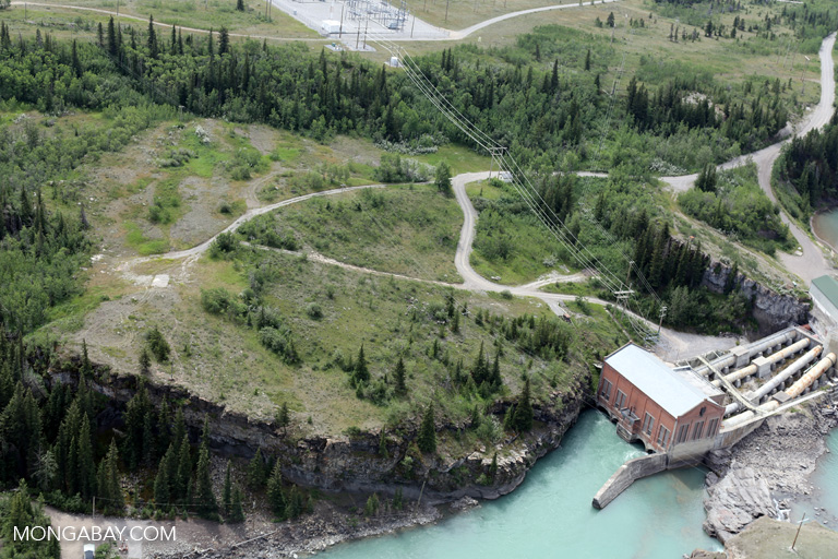 Dam on the Bow river in the Canadian province of Alberta. Photo by Rhett Butler.