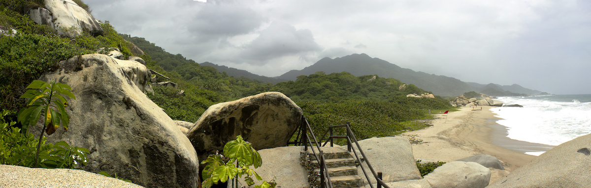 Tayrona National Natural Park on Columbia's Caribbean coast, where the company operating tourist concessions been accused of land grabbing and controversial development. Photo by Carlos Andrés Reyes.