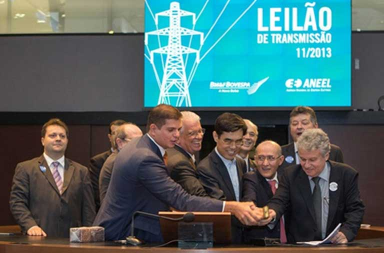 The first auction of the Belo Monte transmission line. State Grid is a Chinese state-owned company that will play a major role in the construction of that Brazilian power line. Photo courtesy of State Grid
