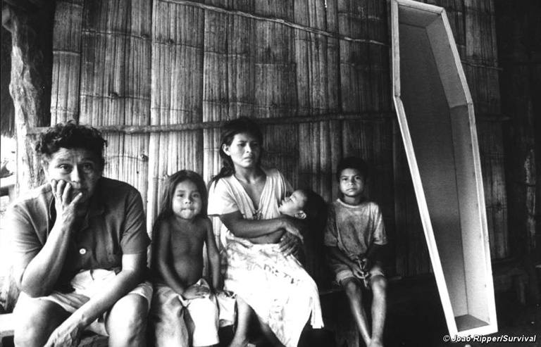 Members of a guarani community in Brazil. Land grabbing threatens the livelihoods of indigenous peoples, many of whom are without legal title to the land on which they live. Photo by Joao Ripper/Survival International.