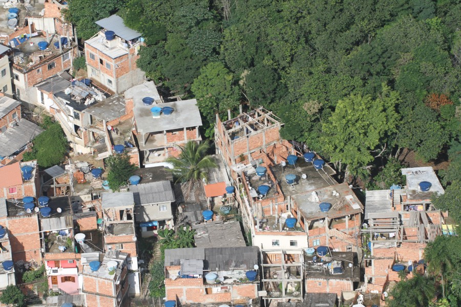 A bird's eye view of the city of Rio de Janeiro and its poor sanitation. Photo courtesy of Mario Moscatelli.