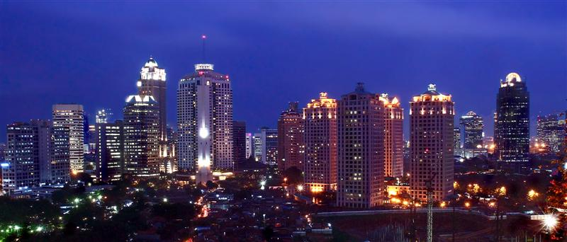 The downtown Jakarta skyline. Photo courtesy of Judhi Prasetyo/Wikimedia Commons