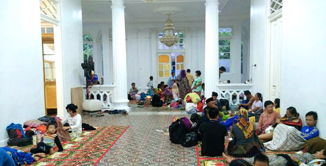 Victims of flooding in Bangka, an island off the Sumatran coast. Photo courtesy of the National Disaster Mitigation Agency