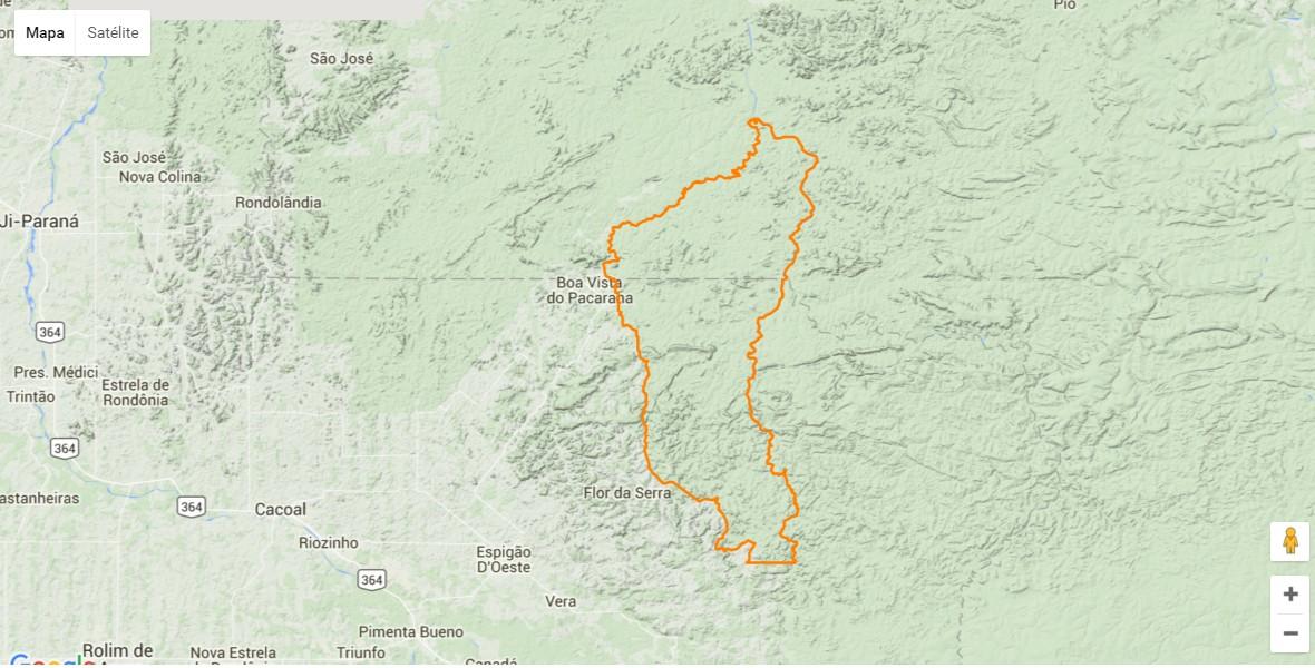 Roosevelt ndigenous territory. Map courtesy of Carolina Torres.