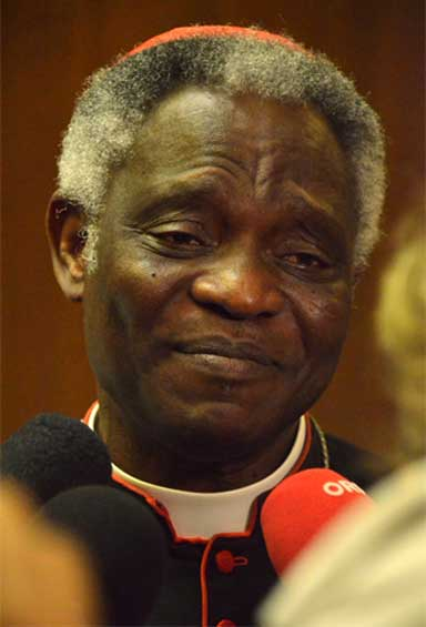 Cardinal Peter Turkson guided the drafting of Laudato Si, On Care for Our Common Home, and heads the Vatican's Pontifical Office of Justice and Peace.. Photo courtesy of the Vatican.