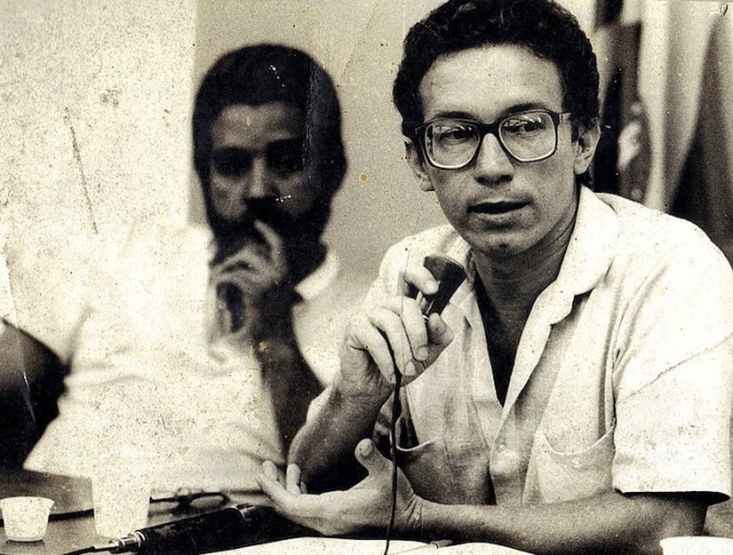 Lúcio Flávio Pinto as a young reporter, circa 1970. Photo courtesy of Lúcio Flávio Pinto.