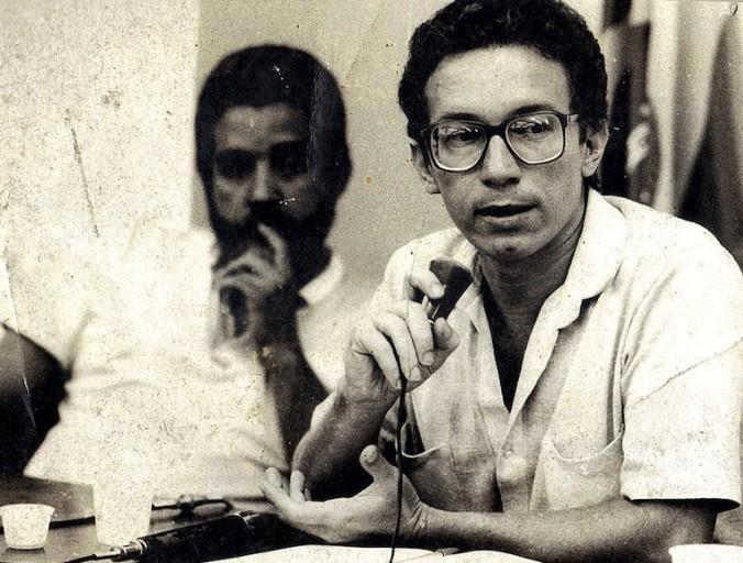 Lúcio Flávio Pinto as a young reporter, circa 1970. Photo courtesy of Lúcio Flávio Pinto.