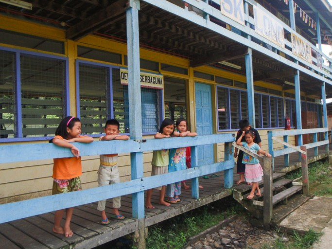 A school in the village of Long Anap, along the Baram River. The village would be flooded if the Baram Dam is built. Photo courtesy of Bruno Manser Fonds.