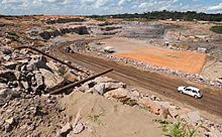 The Santo Antônio dam construction site. Photo courtesy of Wikipedia