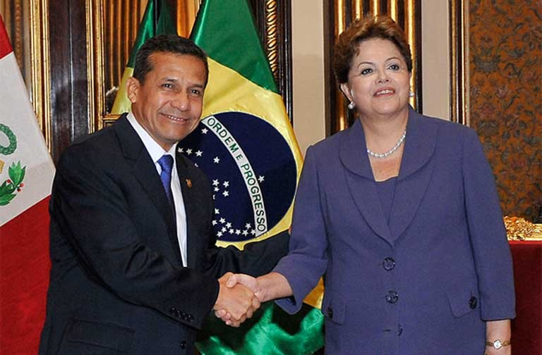 Brazil's Dilma Rousseff meets with Peru's President Ollanta Humalal. Photo courtesy of Agência Brasil (ABr)