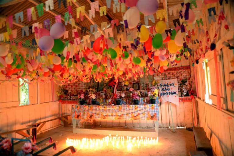 The Saint Sebastian Festival hall in Tukaya. Photo by Natalia Guerrero