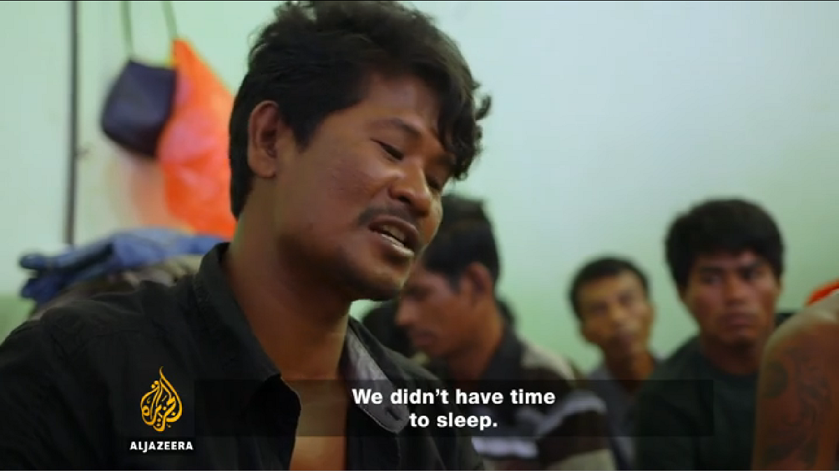 A trafficking survivor from Myanmar tells his story in the Al Jazeera documentary.